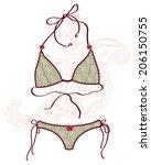 women bathing suits. | Shutterstock . vector #206150755
