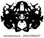 rorschach inkblot test.... | Shutterstock .eps vector #2061596027
