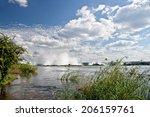 Постер, плакат: Victoria falls upstream Zambia
