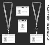lanyard  name tag holder end... | Shutterstock . vector #206162989