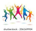 colorful background with... | Shutterstock . vector #206169904