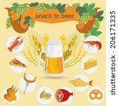 beer snack  infographics  set... | Shutterstock .eps vector #206171335
