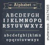 chalkboard alphabet. vector...   Shutterstock .eps vector #206174335