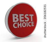 best choice circular icon on... | Shutterstock . vector #206182531