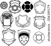 shield vector collection | Shutterstock .eps vector #206189179