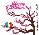 happy valentine day with couple ... | Shutterstock .eps vector #206191675