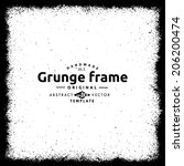 abstract grunge frame. vector... | Shutterstock .eps vector #206200474