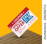 coupon sale  offers and... | Shutterstock .eps vector #206206711