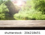 desk and river  | Shutterstock . vector #206218651