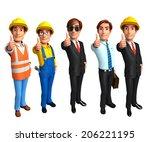 illustration group business... | Shutterstock . vector #206221195