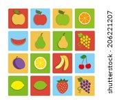 flat icon fruit