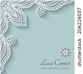 Paper background with lace corner ornament, vector eps10