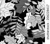 Seamless Pattern Of Autumn...