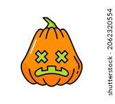 pumpkin jack o lantern... | Shutterstock .eps vector #2062320554