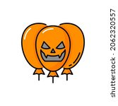 scary face of ghost demon on... | Shutterstock .eps vector #2062320557