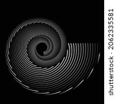 rotating speed lines in spiral... | Shutterstock .eps vector #2062335581