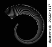 rotating speed lines in spiral... | Shutterstock .eps vector #2062346117