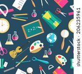 back to school abstract... | Shutterstock .eps vector #206235961
