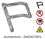 vector net flag. geometric... | Shutterstock .eps vector #2062427891