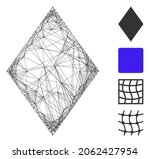 vector net filled rhombus.... | Shutterstock .eps vector #2062427954