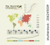 detail infographic vector.... | Shutterstock .eps vector #206245039