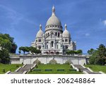 View on basilica of the Sacred Heart, Paris, France