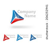 triangle logo design template | Shutterstock .eps vector #206252941