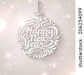 new year typographic design....   Shutterstock .eps vector #206254099