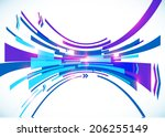 blue perspective bow vector... | Shutterstock .eps vector #206255149