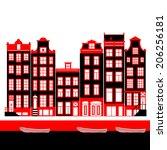 Amsterdam Houses Vector...