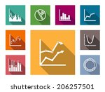 colorful flat graphs and charts ...