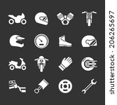 set icons of motorcycle... | Shutterstock .eps vector #206265697