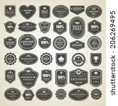 vintage vector design elements. ... | Shutterstock .eps vector #206269495