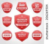 vintage vector design elements. ... | Shutterstock .eps vector #206269504