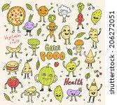 healthy green vegetarian food...   Shutterstock .eps vector #206272051
