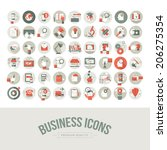 Set of flat design business icons. Icons for business, marketing, education, technology, seo, media, communication, finance, online shopping, e-commerce, creative idea, web development, social media.