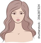 illustration of female... | Shutterstock . vector #206287324