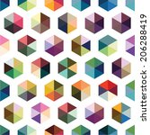 colorful hexagon pattern.  | Shutterstock .eps vector #206288419