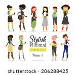 stylish minimal characters vol.1 | Shutterstock .eps vector #206288425