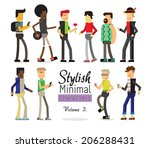 stylish minimal characters vol.2 | Shutterstock .eps vector #206288431