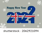 new year card 2022. depicts an... | Shutterstock .eps vector #2062921094