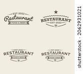 restaurant logos templates set... | Shutterstock .eps vector #2062931021