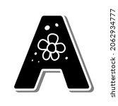 cute uppercase alphabet 'a'... | Shutterstock .eps vector #2062934777