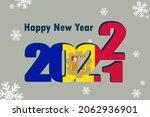 new year's card 2022. an... | Shutterstock .eps vector #2062936901