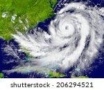 huge hurricane over florida and ... | Shutterstock . vector #206294521