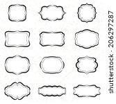 vintage labels black ink.... | Shutterstock .eps vector #206297287