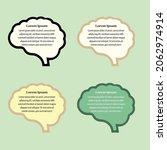 quote brain design box frame... | Shutterstock .eps vector #2062974914