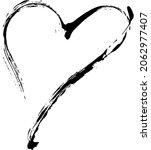 heart grunge brush stroke symbol   Shutterstock .eps vector #2062977407