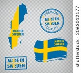 made in sweden rubber stamps... | Shutterstock .eps vector #2063012177