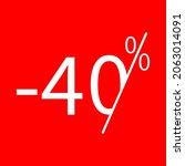 sale  40 percent colored icon....
